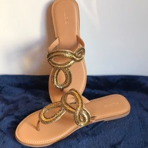 Glittery Aldo Sandals, brand new!